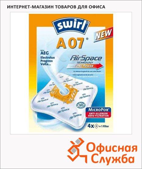 Пылесборник для пылесосов Swirl A 07 MicroPor 4 шт + воздушный фильтр