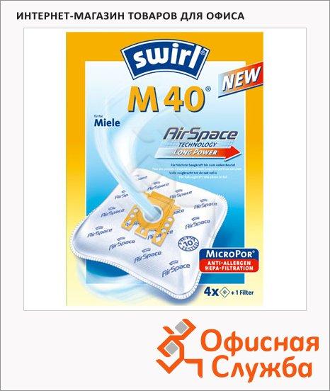 Пылесборник для пылесосов Swirl M 40 MicroPor 4 шт + воздушный фильтр