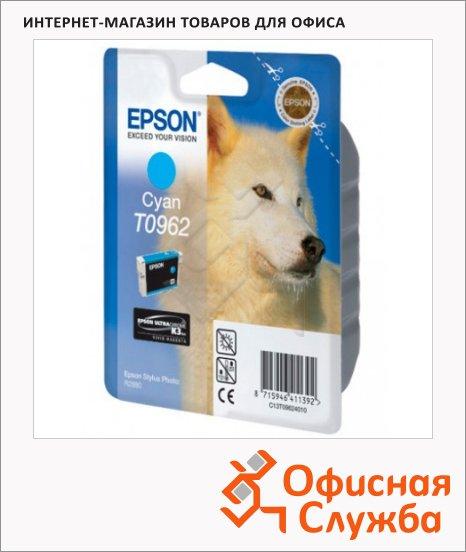 фото: Картридж струйный Epson C13 T0962 4010 голубой