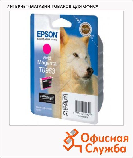 фото: Картридж струйный Epson C13 T0963 4010 пурпурный