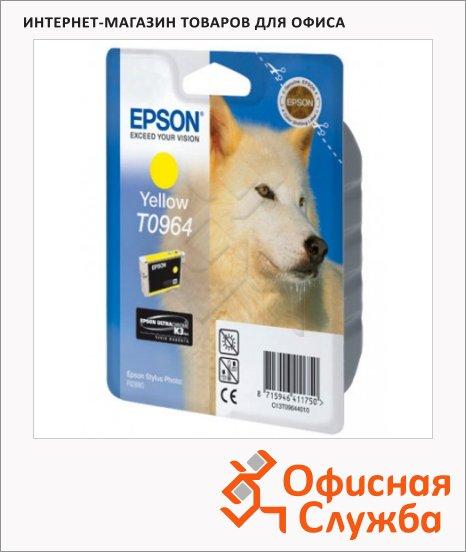 фото: Картридж струйный Epson C13 T0964 4010 желтый