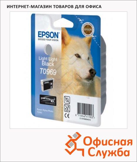 фото: Картридж струйный Epson C13 T0969 4010 серый