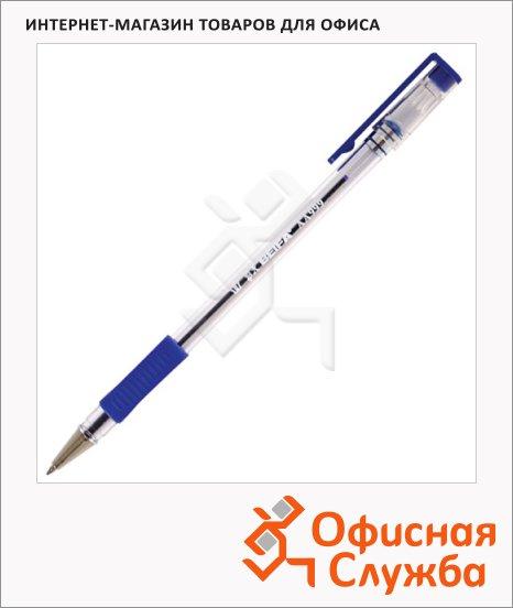 фото: Ручка шариковая Beifa синяя 0.5мм, прозрачный корпус