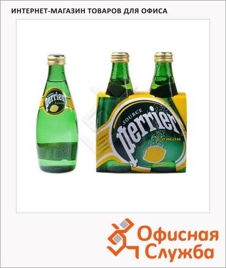 Вода минеральная Perrier ароматизированная газ 0.33л лимон