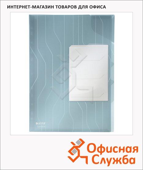 фото: Папка-уголок Leitz CombiFile Premium синяя A4, 200мкм, 3 шт/уп, 47290035
