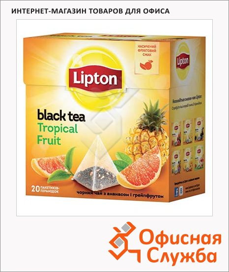 ��� Lipton Tropical Fruit, ������, � ����������, 20 ���������