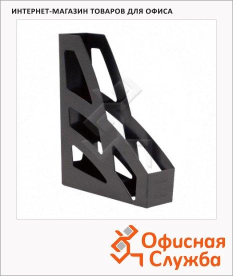 Накопитель вертикальный для бумаг Стамм Лидер А4, 70мм, 2шт, черный, ЛТ128