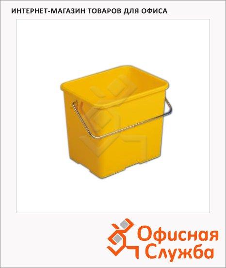 фото: Ведро Vileda Pro 6л прямоугольное, желтое, 500433
