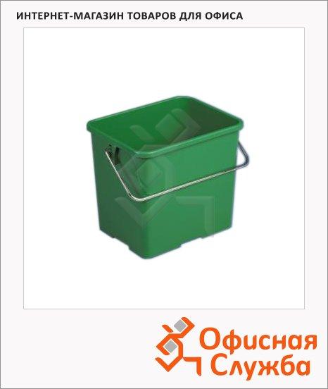 Ведро Vileda Pro 6л, прямоугольное, зеленое, 500432