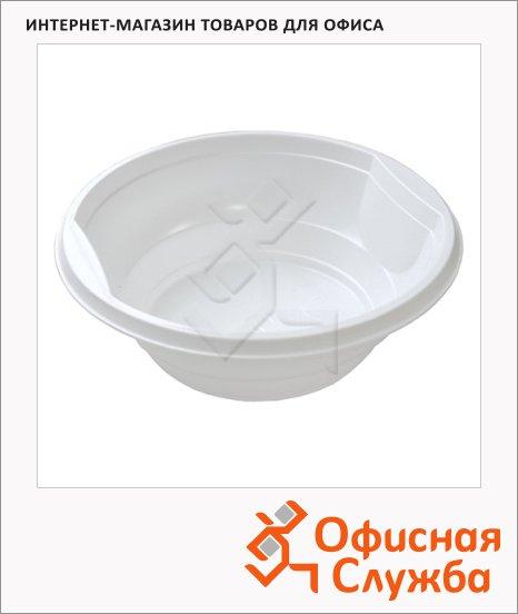 Миска одноразовая Стиролпласт Эконом 500мл, белая, 50шт/уп