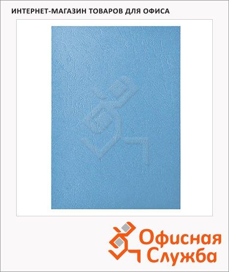 фото: Обложки для переплета картонные Gbc LeatherGrain голубые А4, 250 г/кв.м, 100шт