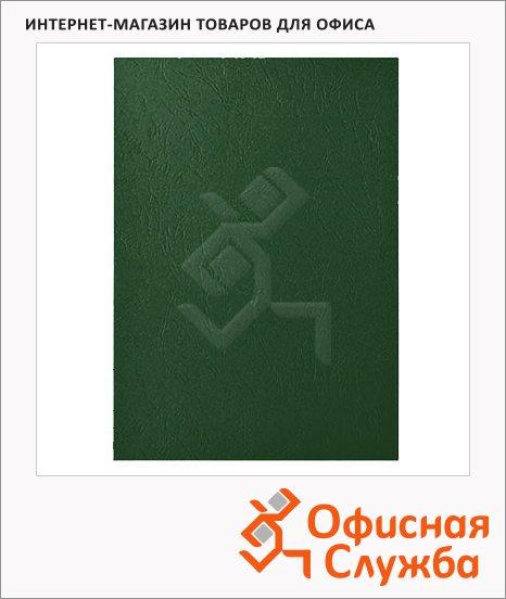 фото: Обложки для переплета картонные Gbc LeatherGrain темно-зеленые А4, 250 г/кв.м, 100шт