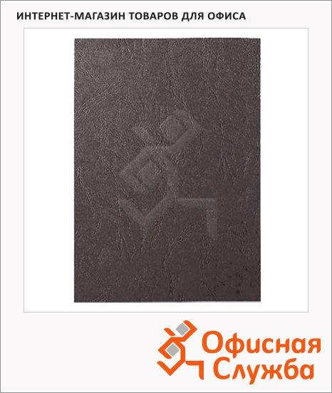 фото: Обложки для переплета картонные Gbc LeatherGrain темно-серые А4, 250 г/кв.м, 100шт