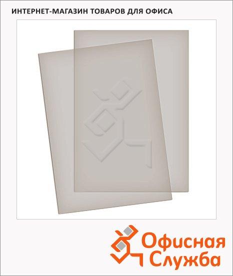 Обложки для переплета пластиковые Gbc Color Clear дымчатые, А4, 180 мкм, 100шт