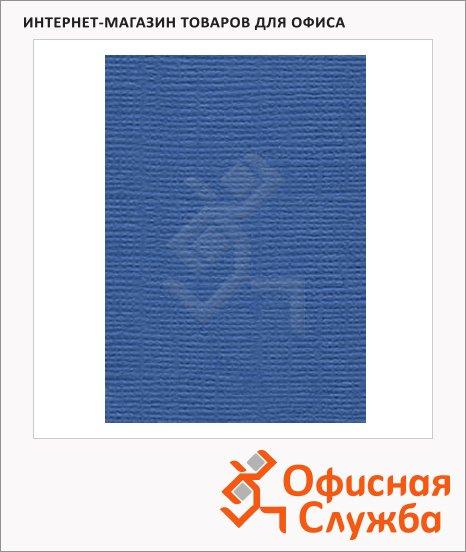 фото: Обложки для переплета картонные Gbc LinenWeave синие А4, 250 г/кв.м, 100шт