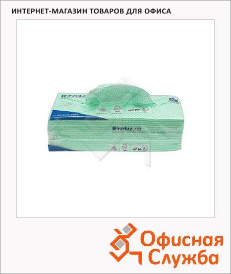 фото: Протирочные салфетки Kimberly-Clark WypAll Х50 7442 листовые, 300шт, 1 слой, зеленые