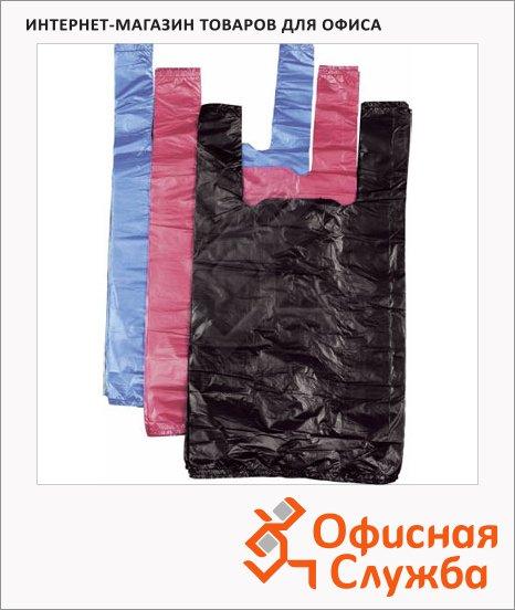 Пакет Майка ПНД 35х20х65см, 15мкм, 100 шт/уп, цветной