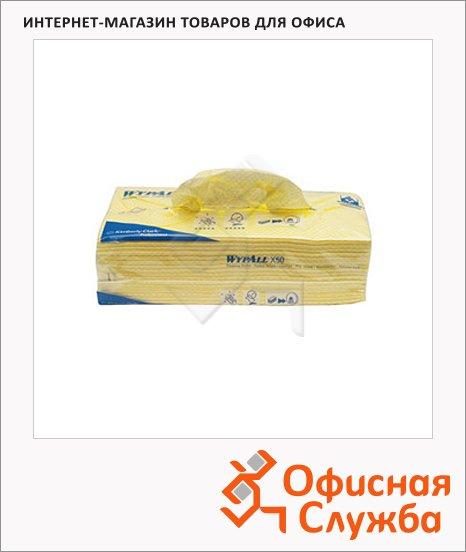 фото: Протирочные салфетки Kimberly-Clark WypAll Х50 7443 листовые, 300шт, 1 слой, желтые