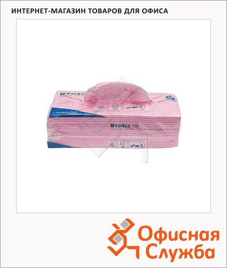 Протирочные салфетки Kimberly-Clark WypAll Х50 7444, листовые, 300шт, 1 слой, красные