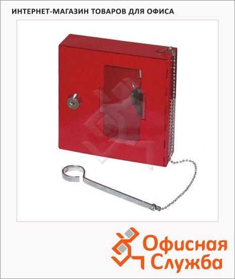 Шкафчик для аварийного ключа Office Force красный, ключевой замок, 20093/147871, 150х150х40мм
