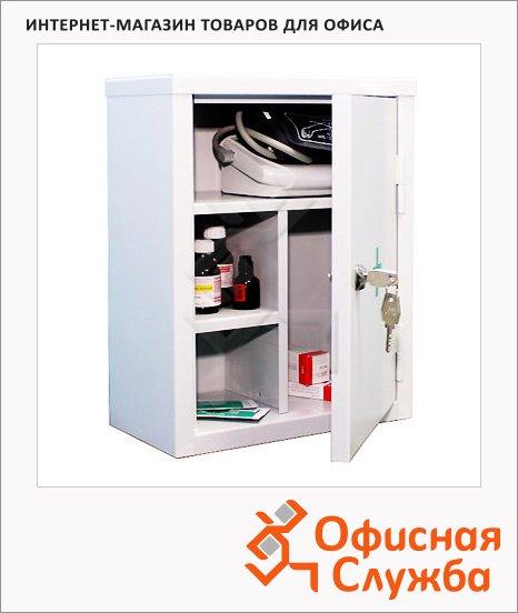 Аптечка офисная АМ-1 2 съёмные полки, ключевой замок, 300х380х160мм