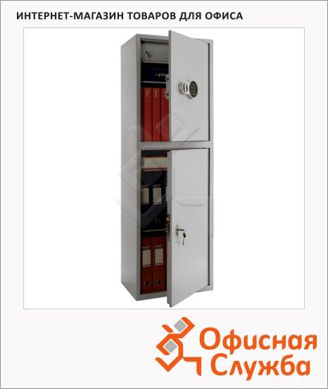 Шкаф металлический для документов Практик SL-150/2T EL бухгалтерский, 1490x460x340мм