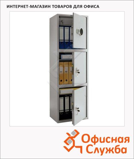 фото: Шкаф металлический для документов Практик SL-150/3Т EL бухгалтерский 1490х460х340мм