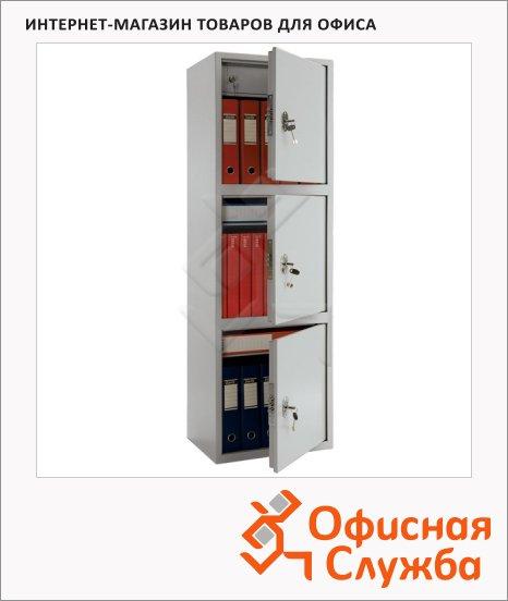 Шкаф металлический для документов Практик SL-150/3T бухгалтерский, 1490x460x340мм