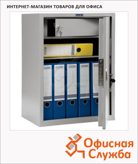 Шкаф металлический для документов Практик SL-65T бухгалтерский, 630x460x340мм