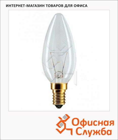 фото: Лампа накаливания Старт 40Вт E14, теплый белый свет, свеча, 2750К