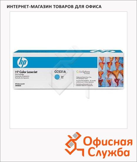 Тонер-картридж Hp CC531A, голубой