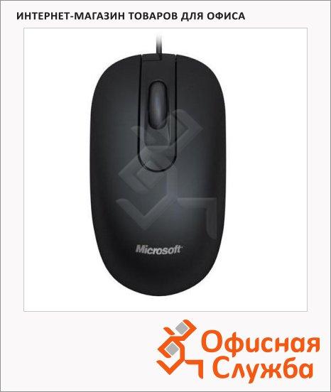 Мышь проводная оптическая USB Microsoft Optical Mouse 200, 1000dpi, черная