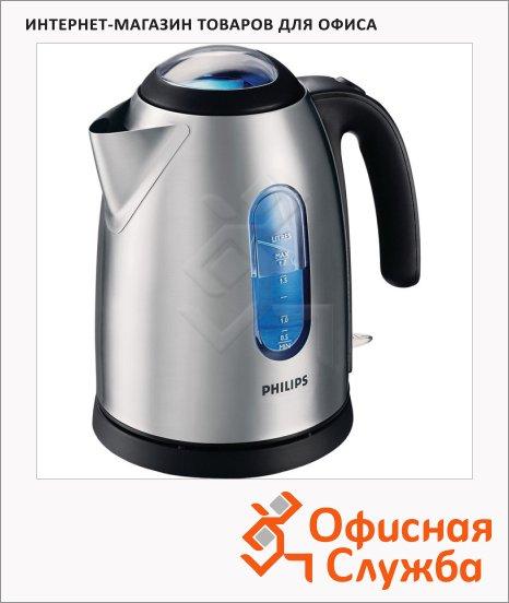 фото: Чайник электрический Philips HD 4667 металлик 1.7 л, 2400 Вт