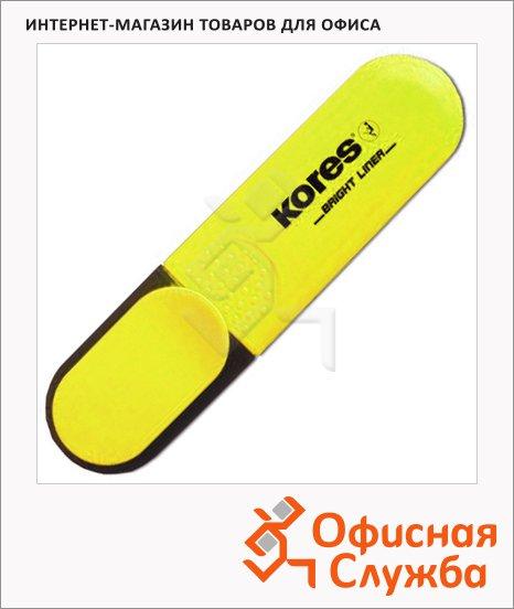 Текстовыделитель Kores желтый, 1-5мм, скошенный наконечник