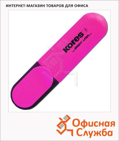 фото: Текстовыделитель Kores розовый 1-5мм, скошенный наконечник