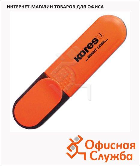 Текстовыделитель Kores оранжевый, 1-5мм, скошенный наконечник