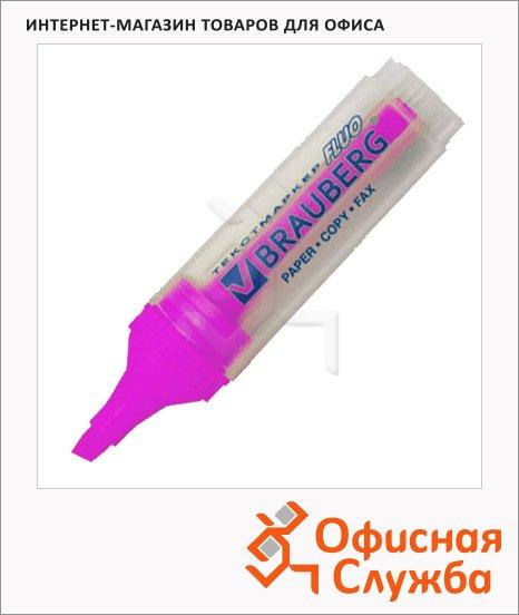 фото: Текстовыделитель Brauberg Fluo розовый 1-5мм, скошенный наконечник, 150401