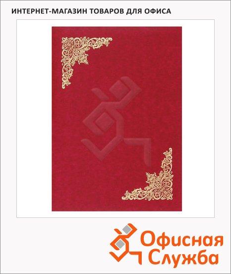 фото: Папка адресная Виньетка красная А4, бумвинил