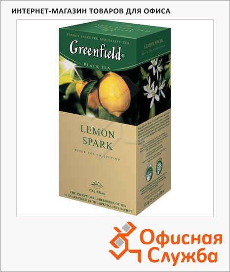 Чай Greenfield Lemon Spark (Лемон Спарк), черный, 25 пакетиков