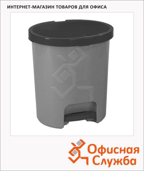 Контейнер для мусора с педалью Curver 25л, серый, 175923