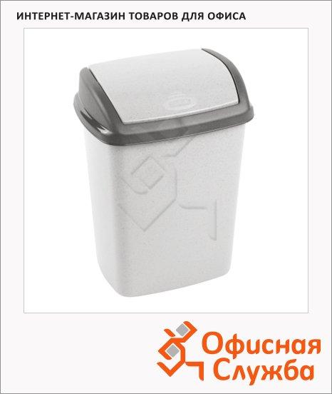Контейнер для мусора Curver Dominik 10л, с качающейся крышкой, графитовый, 174993