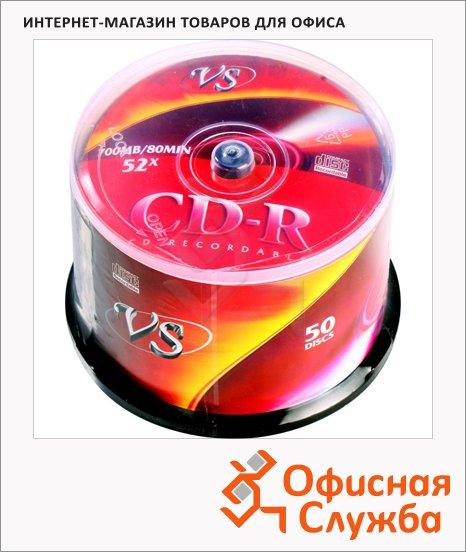 Диск CD-R Vs 700Mb, 52x, Cake Box, 50шт/уп