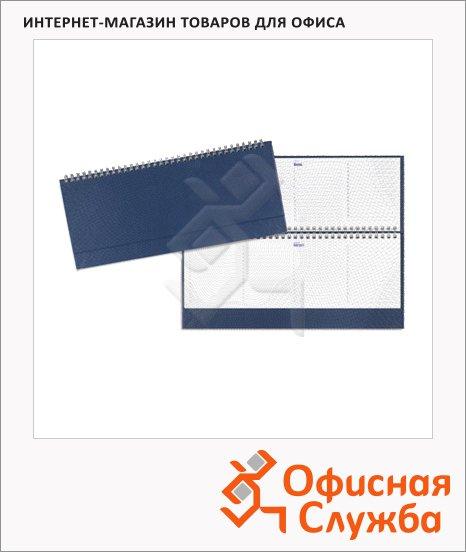 Планинг недатированный синий, 13х30.5см, 64 листа, бумвинил