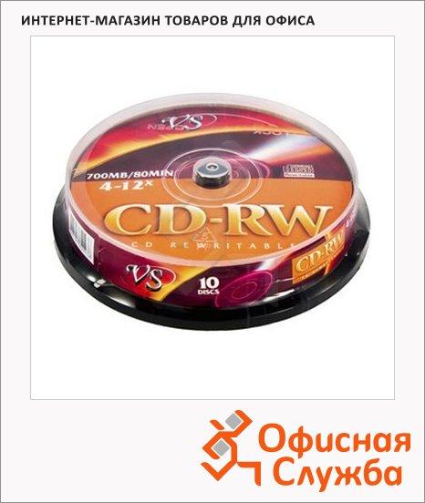 фото: Диск CD-RW Cake Box 700Mb 4-12x, 10шт/уп