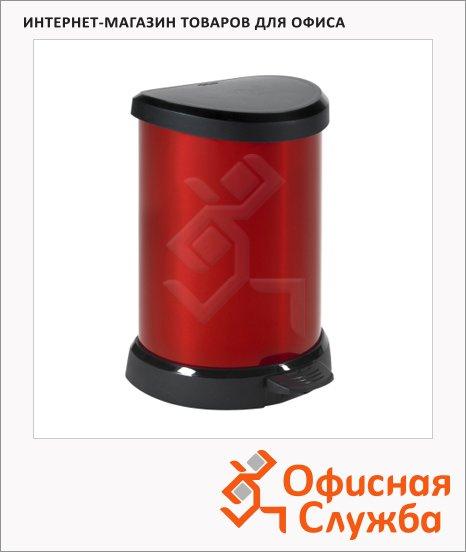Контейнер для мусора с педалью Rubbermaid Deco Bin красный металик, 20л
