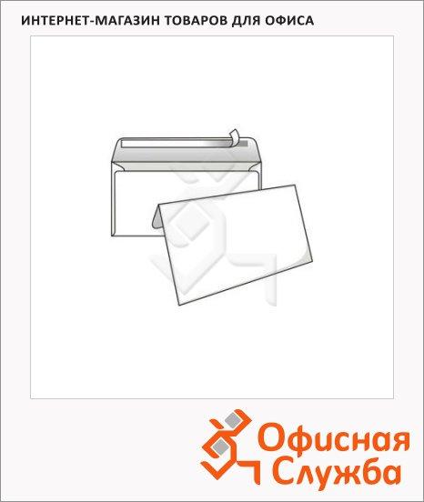 Конверт почтовый Курт Е65 белый, 110х220мм, 80г/м2, 25шт, стрип