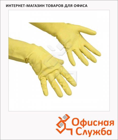 Перчатки резиновые Vileda Pro Контракт XL, желтые, 102588