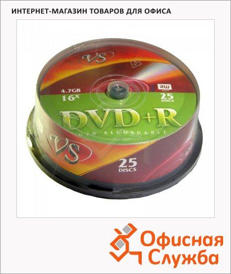 фото: Диск DVD+R Vs 4.7Gb 16х, Cake Box, 25шт/уп