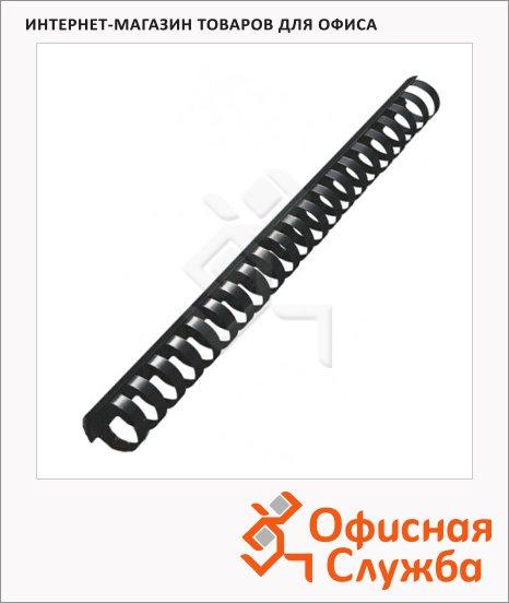 фото: Пружины для переплета пластиковые Office Kit черные на 170-210 листов, 22мм, 50шт, кольцо, BP2066