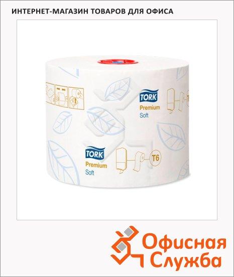 Туалетная бумага Tork Premium T6, 127520, в рулоне, 90м, 2 слоя, белая